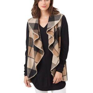 MUD PIE West Blanket Wool-Blend Plaid Vest